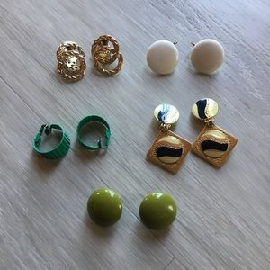 Lot of Vintage 60s Clasp Earrings